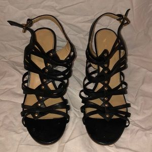Black & Brown Ivanka Trump Wedges